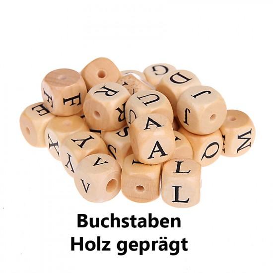 Geprägte Holzbuchstabenwürfel 10mm