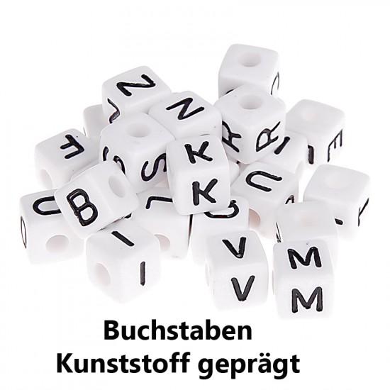 Geprägte Kunststoffbuchstabenwürfel 10mm