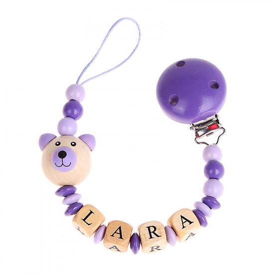 Schnullerkette Teddy-Bär 3D