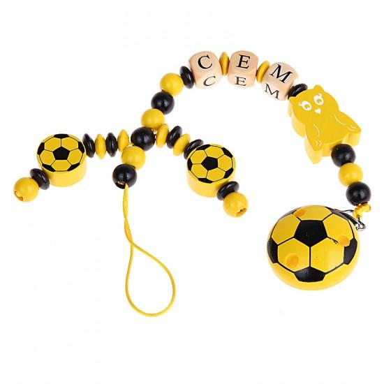 Schnullerkette Fußball und Eule